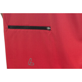 Löffler Flow Fietsshirt Halve Rits Heren, red